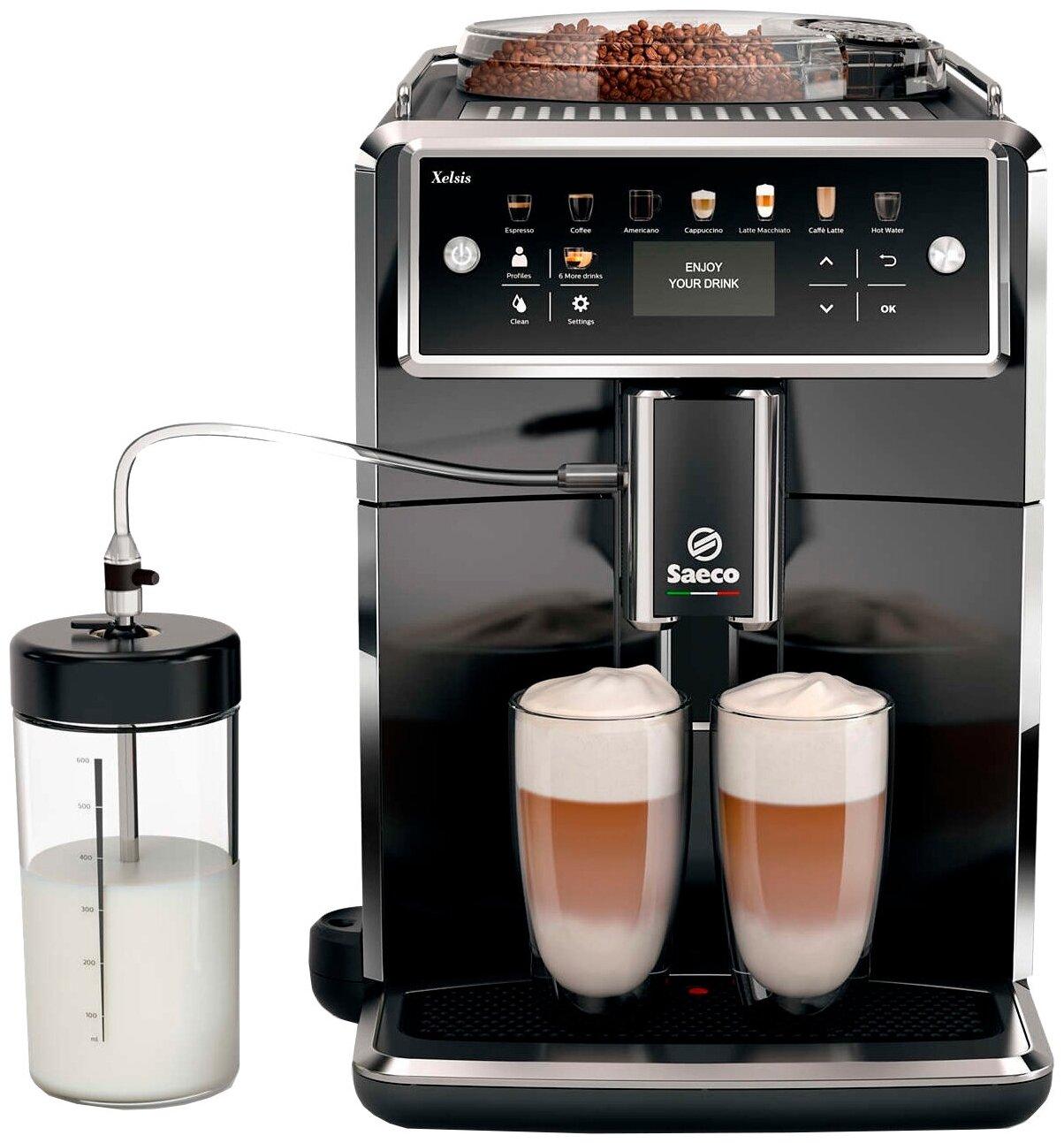Saeco SM7580 Xelsis - тип используемого кофе: молотый / зерновой