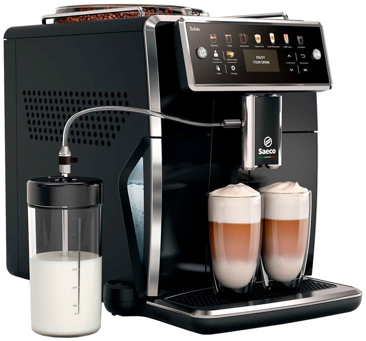 Saeco SM7580 Xelsis - тип напитка: капучино, эспрессо, латте макиато, лунго, американо, ристретто