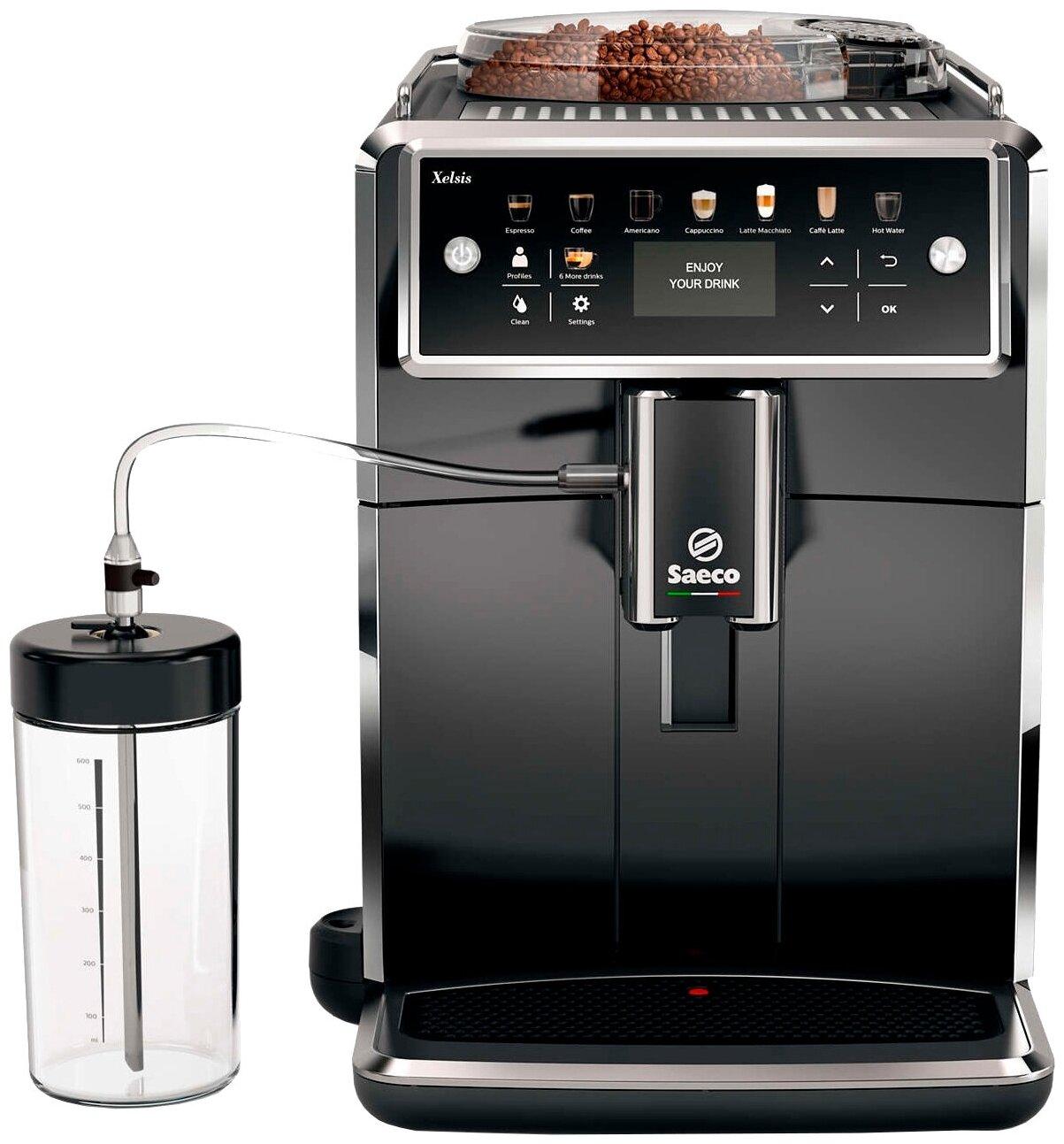 Saeco SM7580 Xelsis - приготовление капучино: автоматическое