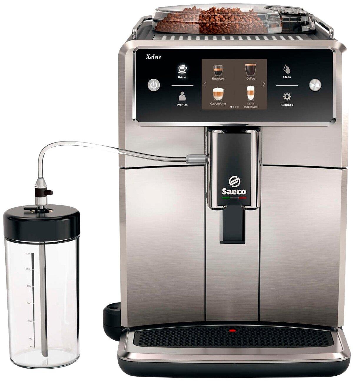 Saeco SM7683 Xelsis - тип используемого кофе: молотый / зерновой