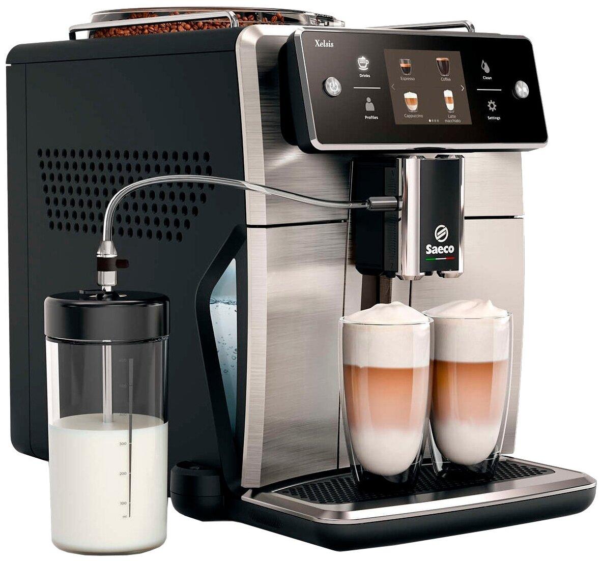 Saeco SM7683 Xelsis - приготовление капучино: автоматическое