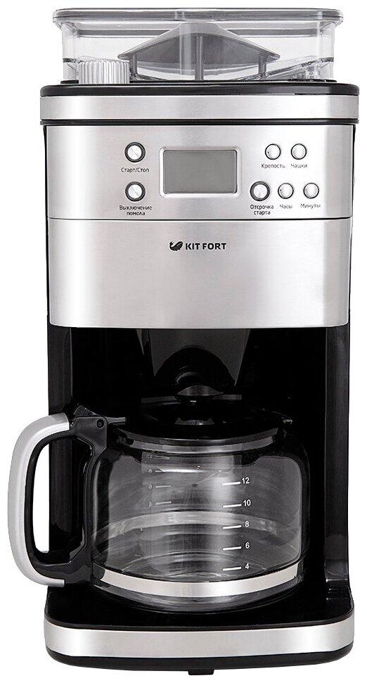 Kitfort KT-705 - тип используемого кофе: молотый / зерновой