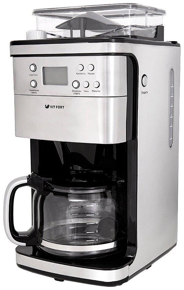 Kitfort KT-705 - настройки: крепость кофе