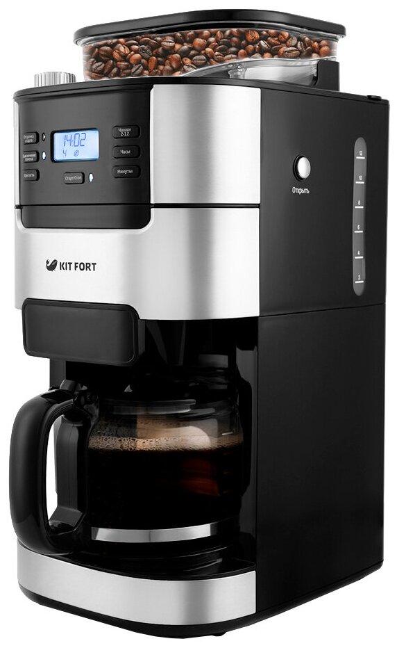 Kitfort KT-720 - тип используемого кофе: молотый / зерновой