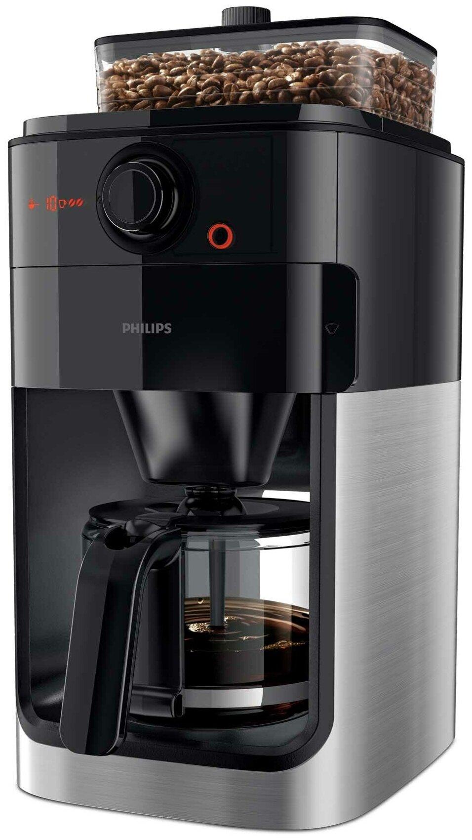 Philips HD7767 Grind & Brew - тип используемого кофе: молотый / зерновой