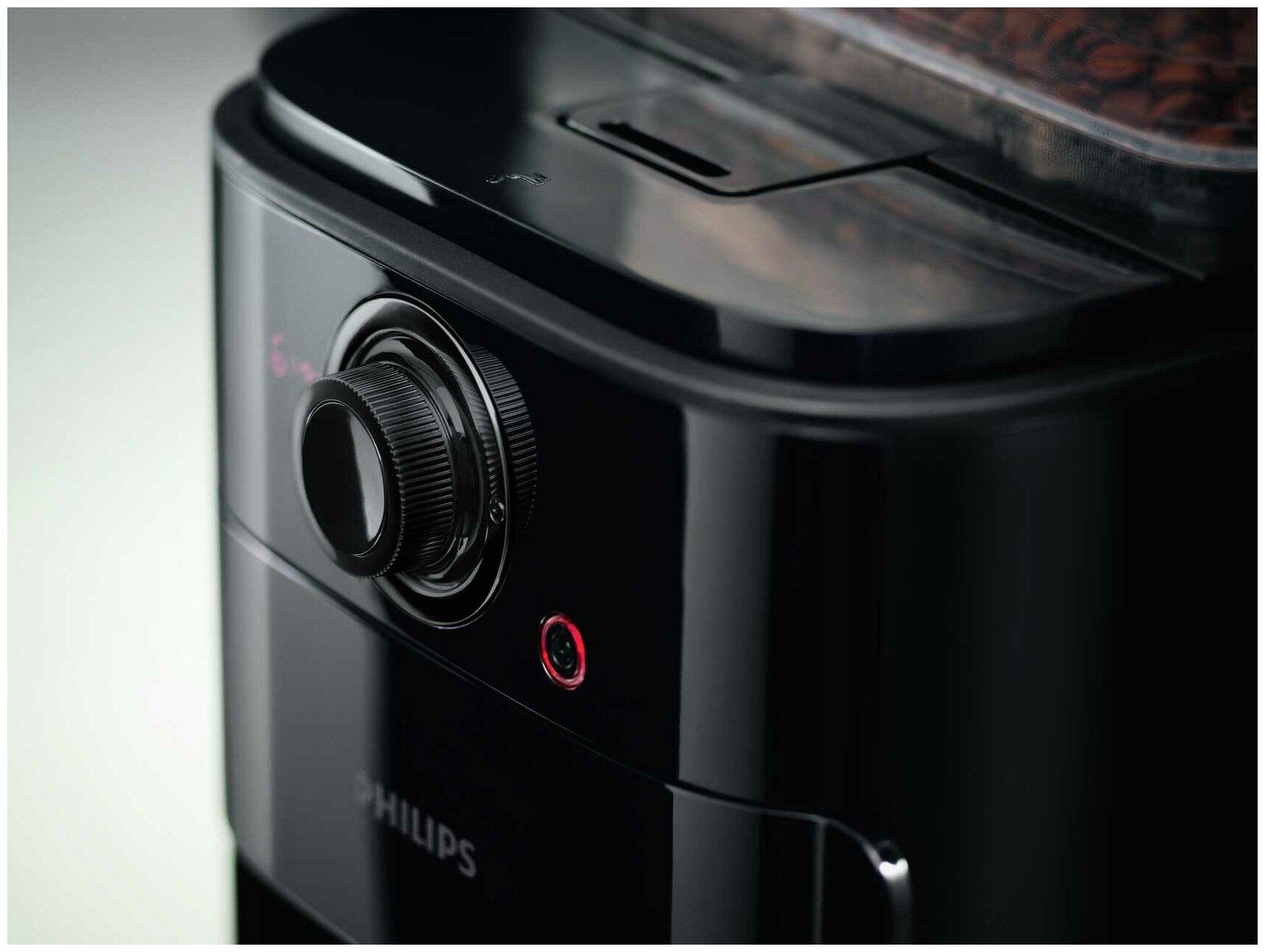 Philips HD7767 Grind & Brew - настройки: крепость кофе